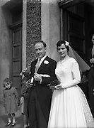 10/05/1958<br /> 05/10/1958<br /> 10 May 1958<br /> <br /> Wedding - Linehan/Farrell at St Vincent de Paul Church, Marino