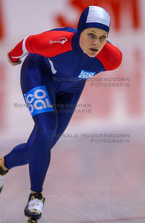 04-01-2003 NED: Europees Kampioenschappen Allround, Heerenveen<br /> 3000 m Hanna Bjelkevik NOO