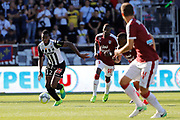 Lassana COULIBALY (SCO Angers), Younousse SANKHARE (Girondins de Bordeaux), Francois KAMANO (Girondins de Bordeaux) during the French championship L1 football match between SCO Angers and Bordeaux on August 6th, 2017 at Raymond-Kopa stadium, France - PHOTO Stéphane Allaman / ProSportsImages / DPPI