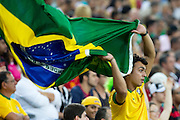 Rio de Janeiro_RJ, Brazil.<br /> <br /> Copa das Confederacoes 2013. Jogadores de Espanha e Taiti disputam partida pela primeira fase da copa das confederacoes, em jogo valido do grupo B no estadio do Maracana. A Espanha ganhou o jogo 10x0.<br /> <br /> The 2013 FIFA Confederations Cup.  Players of Spain and Tahiti vying starting the first phase of the Confederations Cup in Group B in the Maracana stadium. Spain won the game 10x0.<br /> <br /> Foto: MARCUS DESIMONI / NITRO