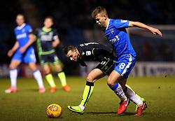Billy Bodin of Bristol Rovers takes on Jake Hessenthaler of Gillingham - Mandatory by-line: Robbie Stephenson/JMP - 16/12/2017 - FOOTBALL - MEMS Priestfield Stadium - Gillingham, England - Gillingham v Bristol Rovers - Sky Bet League One