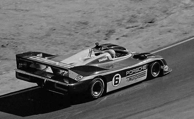 Mark Donhue in his championship winning Porsche 917/30 at 1973 Riverside Can-Am