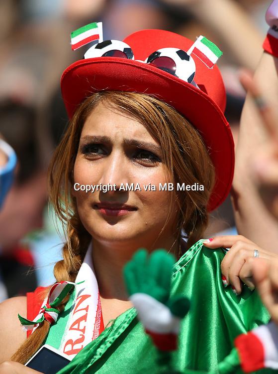 A female fan of Iran