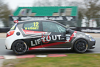 #12 Brett LIDSEY MRM during Michelin Clio Cup Series as part of the BARC NW - Championship Raceday  at Oulton Park, Little Budworth, Cheshire, United Kingdom. March 19 2016. World Copyright Peter Taylor/PSP. Copy of publication required for printed pictures.  Every used picture is fee-liable. http://archive.petertaylor-photographic.co.uk