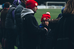 Bristol City Women supporters look on - Rogan Thomson/JMP - 06/11/2016 - FOOTBALL - The Northcourt Stadium - Abingdon-on-Thames, England - Oxford United Women v Bristol City Women - FA Women's Super League 2.