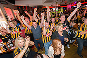 6-9-15<br /> <br /> Kilkenny fans pictured watching the All Ireland Final against Galway at Lanigan's Bar on Rose Inn Street in Kilkenny.<br />  <br /> Picture by Dylan Vaughan.