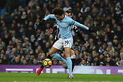 Leroy Sane during the Premier League match between Manchester City and Newcastle United at the Etihad Stadium, Manchester, England on 20 January 2018. Photo by George Franks.