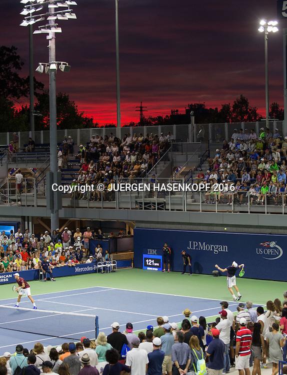 US Open 2016 Feature, Sonnenuntergang und Aussenplaetze,<br /> <br /> Tennis - US Open 2016 - Grand Slam ITF / ATP / WTA -  USTA Billie Jean King National Tennis Center - New York - New York - USA  - 2 September 2016.