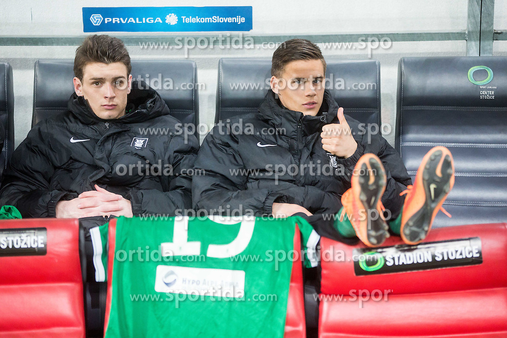 Aljon Kerec and Kruno Ivancic #19 of Olimpija during football match between NK Olimpija Ljubljana and NK Maribor in Round #26 of Prva liga Telekom Slovenije 2014/15, on April 8, 2015 in SRC Stozice, Ljubljana, Slovenia. Photo by Vid Ponikvar / Sportida