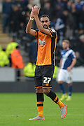Hull City midfielder Ahmed Elmohamady at end of the match during the Sky Bet Championship match between Hull City and Birmingham City at the KC Stadium, Kingston upon Hull, England on 24 October 2015. Photo by Ian Lyall.