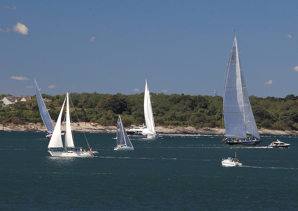 S/Y Hanuman starts on Saturday at the 2010 Newport Bucket. Super yachts racing in the 2010 Newport Bucket.