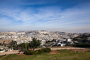 General view of Jerusalem, Old City and Temple Mount