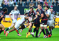 Maxime MEDARD / Jonathan DANTY - 24.04.2015 - Stade Francais / Stade Toulousain - 23eme journee de Top 14<br />Photo : Dave Winter / Icon Sport