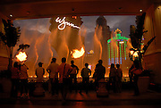Macau casino' s . The fountain at the Wynn casino has a state-of the art fountain with flame throwers.<br />Macau, the former Portuguese colony, now part of China has witnessed a gambling boom over the last years. The arrival of new Sands and Wynn casino's from the US has raised the stakes with Macau gamblers poised to spend more than their counterparts on the Las Vegas strip.