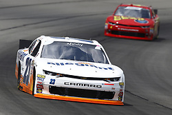 June 1, 2018 - Long Pond, Pennsylvania, United States of America - Chase Elliott (23) brings his car through the turns during practice for the Pocono Green 250 at Pocono Raceway in Long Pond, Pennsylvania. (Credit Image: © Chris Owens Asp Inc/ASP via ZUMA Wire)