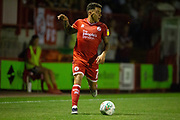 Reece Grego-Cox (Crawley Town) during the EFL Cup match between Crawley Town and Norwich City at The People's Pension Stadium, Crawley, England on 27 August 2019.