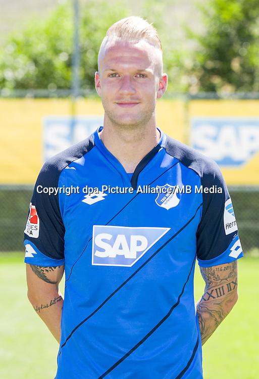 German Bundesliga - Season 2016/17 - Photocall 1899 Hoffenheim on 19 July 2016 in Zuzenhausen, Germany: Kevin Vogt. Photo: APF    usage worldwide