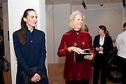 TEODORA SARARU; BUNNY CAMPIONE, Bonhams Auction house hosts festive drinks to preview the first phase of the reconstruction of its Mayfair Headquarters - due for completion in 2013.<br /> Bonhams, 101 New Bond Street, London, 19 December 2011.