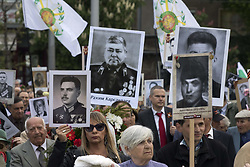 May 9, 2017 - Sofia, Bulgaria - People celebrating the Day of Victory at the monument of the Soviet Army in Sofia, Bulgaria, on May 9, 2017. (Credit Image: © Hristo Vladev/NurPhoto via ZUMA Press)