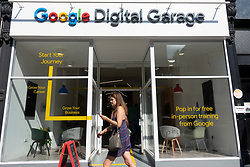 Exterior of new Google Digital Garage in Edinburgh, offers personal help and training of all aspects of Google's services. Scotland, UK