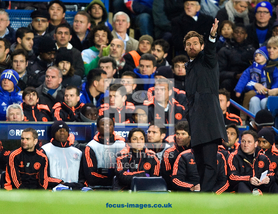 Picture by Paul Terry/Focus Images Ltd. 07545642257.6/12/11.Andre Vilas-Boas, manager of Chelsea during the UEFA Champions League match at Stamford Bridge stadium, London.