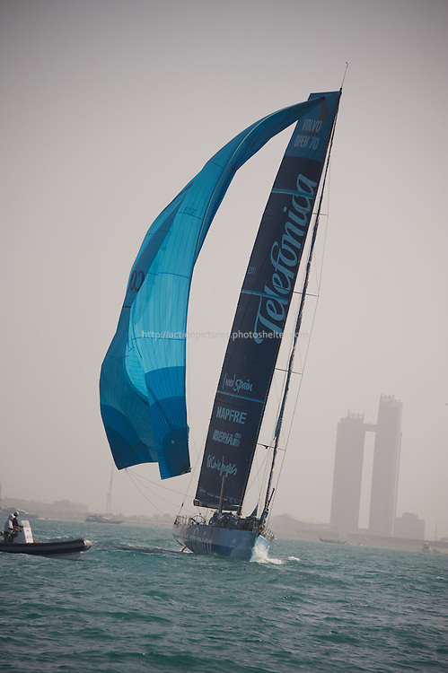 13.01.2012, Abu Dhabi. Volvo Ocean Race, abu dhabi in port race