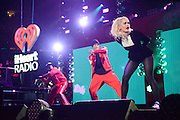 Rita Ora performing at the iHeartRadio Jingle Ball 2014, hosted by Z100 New York at Madison Square Garden on December 12, 2014 in New York City.
