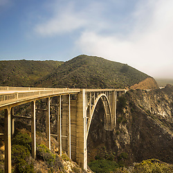 Bixby Creek Bridge, also known as Bixby Bridge, in Big Sur, California