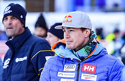 16.12.2016, Saslong, St. Christina, ITA, FIS Ski Weltcup, Groeden, Super G, Herren, Flower Zeremonie im Bild Erik Guay (CAN, 3. Platz) // third placed Erik Guay of Canada reacts after his run for the men's SuperG of FIS Ski Alpine World Cup at the Saslong race course in St. Christina, Italy on 2016/12/16. EXPA Pictures © 2016, PhotoCredit: EXPA/ Erich Spiess
