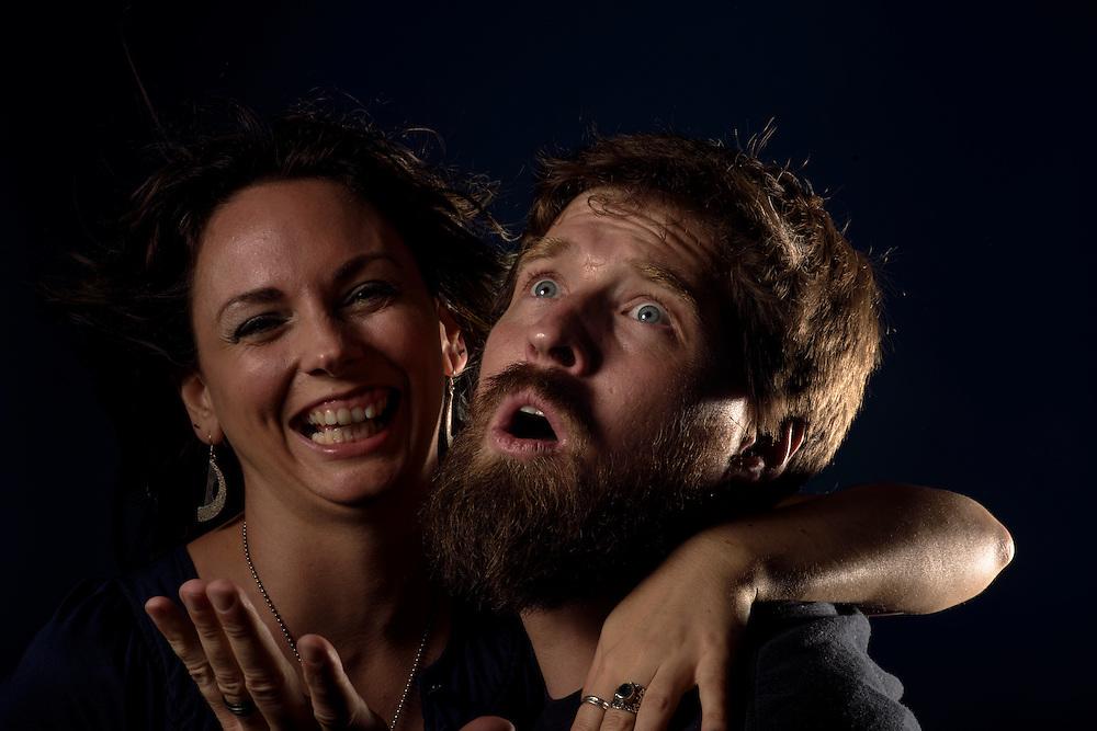 Baltimore, Maryland - August 30, 2014: War on Women band portraits, Brooks Harlan and Shawna Potter.<br /> CREDIT: Matt Roth