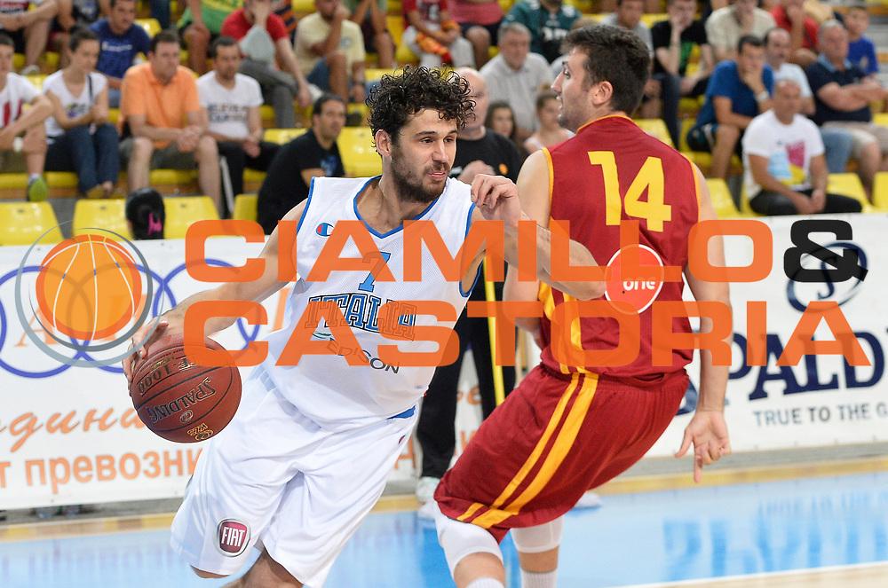DESCRIZIONE : Skopje Nazionale Italia Uomini Torneo internazionale Italia Macedonia Italy Republic of Macedonia<br /> GIOCATORE : Luca Vitali<br /> CATEGORIA : palleggio<br /> SQUADRA : Italia Italy<br /> EVENTO : Torneo Internazionale Skopje<br /> GARA : Italia Macedonia Italy Republic of Macedonia<br /> DATA : 26/07/2014<br /> SPORT : Pallacanestro<br /> AUTORE : Agenzia Ciamillo-Castoria/R.Morgano<br /> Galleria : FIP Nazionali 2014<br /> Fotonotizia : Skopje Nazionale Italia Uomini Torneo internazionale Italia Macedonia Italy Republic of Macedonia
