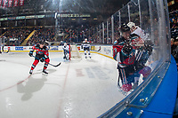 KELOWNA, BC - NOVEMBER 6: Nolan Foote #29 of the Kelowna Rockets looks for the puck in the corner against the Victoria Royals at Prospera Place on November 6, 2019 in Kelowna, Canada. (Photo by Marissa Baecker/Shoot the Breeze)