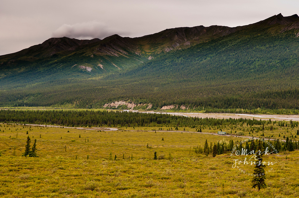 Shuttle Bus & tundra, Denali National Park, Alaska