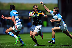 Curwin Bosch of South Africa U20 goes on the attack - Mandatory byline: Patrick Khachfe/JMP - 07966 386802 - 25/06/2016 - RUGBY UNION - AJ Bell Stadium - Manchester, England - Argentina U20 v South Africa U20 - World Rugby U20 Championship 2016 3rd Place Play-Off.