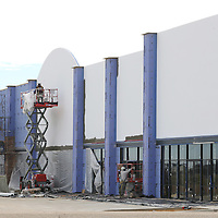 Lauren Wood   Buy at photos.djournal.com<br /> Construction continues at the Market Center on Coley Road near the Tupelo Furniture Market.