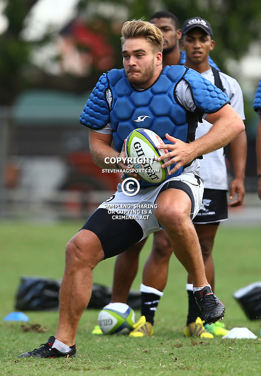 DURBAN, SOUTH AFRICA, 22,MARCH, 2016 - Dale Chadwick during The Cell C Sharks training session  at Growthpoint Kings Park in Durban, South Africa. (Photo by Steve Haag)<br /> <br /> images for social media must have consent from Steve Haag