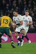 Twickenham, United Kingdom, Saturday, 24th  November 2018, RFU, Rugby, Stadium, England, Center Ben TR'O, supported by Owen FARRELL, during the Quilter Autumn International, England vs Australia, © Peter Spurrier