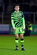 Liam Kitching (#20) of Forest Green Rovers during the The FA Cup match between Carlisle United and Forest Green Rovers at Brunton Park, Carlisle, England on 10 December 2019.