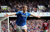 Football - Scottish Premier League - Rangers vs Hearts<br /> <br /> Rangers Nikica Jelavic goal celebrations, during the Rangers vs Hearts Clydesdale Bank Premier league match at Ibrox Stadium