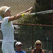 Kerry Ballard, Australia, winning the 60 Womens Singles Final during the 2009 ITF Super-Seniors World Team and Individual Championships at Perth, Western Australia, between 2-15th November, 2009.