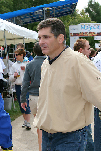 Tom Borich, Investment Representative at the Jefferson City start of Stage 5 of the Tour of Missouri, Saturday, September 15, 2007