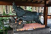 Zenkyoan boar shrine in Kyoto, Japan.