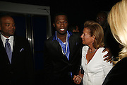 50 Cent and Marie Waldburg, Emporio Armani Red One Night Only. Brompton Hall, Earls Court. London. 21 September 2006.  . ONE TIME USE ONLY - DO NOT ARCHIVE  © Copyright Photograph by Dafydd Jones 66 Stockwell Park Rd. London SW9 0DA Tel 020 7733 0108 www.dafjones.com