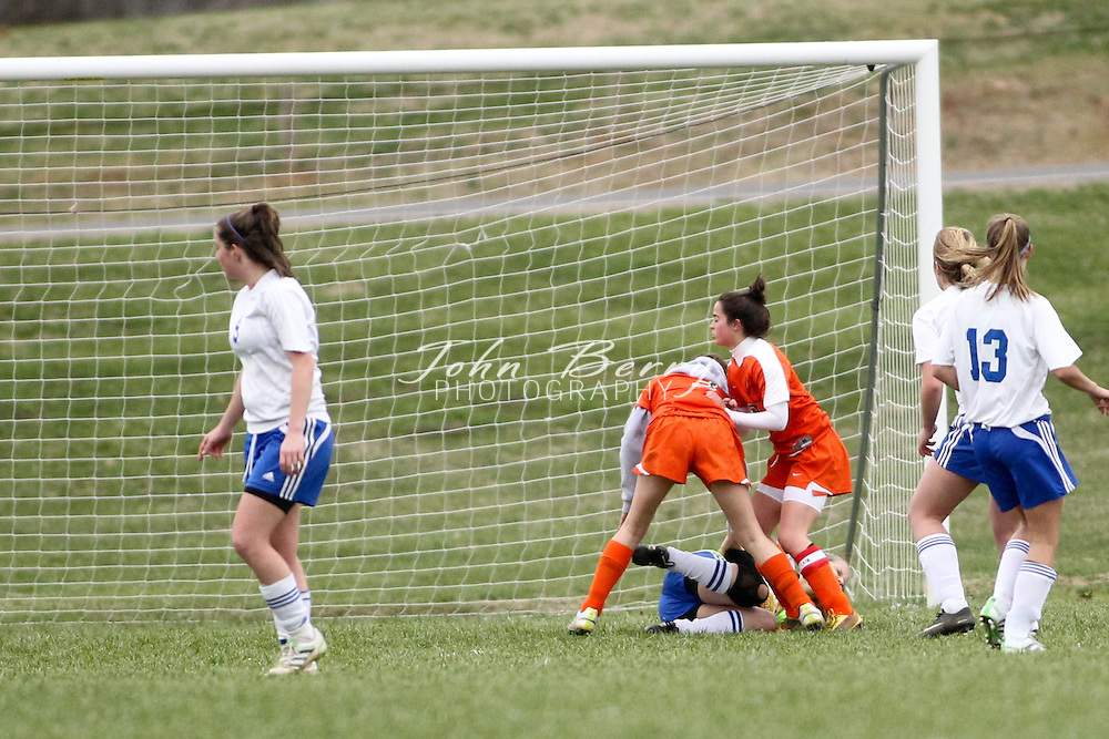March/25/11:  MCHS Varsity Girls Soccer vs Orange Hornets.  Orange ahead 3-1 with about 18 minutes to play.  Madison's lone goal scored in the first half by Samantha Cubbage. (Final 3-2 Orange)