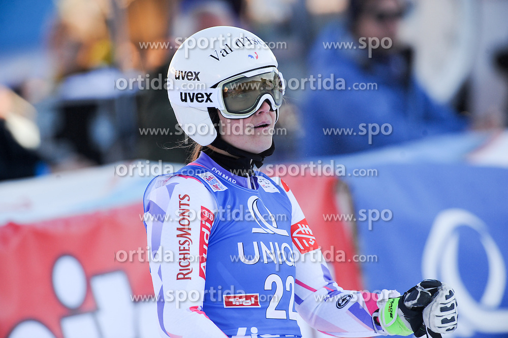 28.12.2015, Hochstein, Lienz, AUT, FIS Weltcup Ski Alpin, Lienz, Riesenslalom, Damen, 2. Durchgang, im Bild Anemone Marmottan (FRA) // Anemone Marmottan of France reacts after her 2nd run of ladies Giant Slalom of the Lienz FIS Ski Alpine World Cup at the Hochstein in Lienz, Austria on 2015/12/28. EXPA Pictures © 2015, PhotoCredit: EXPA/ Erich Spiess