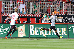 16.08.2015, Alte Foersterei, Berlin, GER, 2. FBL, 1. FC Union Berlin vs 1. FC Kaiserslautern, 3. Runde, im Bild Maurice Deville (#27, 1. FC Kaiserslautern) jubelt nach dem spaeten Ausgleich zum 2:2 // during the 2nd German Bundesliga 3rd round match between 1. FC Union Berlin and 1. FC Kaiserslautern at the Alte Foersterei in Berlin, Germany on 2015/08/16. EXPA Pictures © 2015, PhotoCredit: EXPA/ Eibner-Pressefoto/ Hundt<br /> <br /> *****ATTENTION - OUT of GER*****