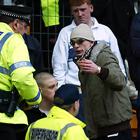 St Johnstone v Falkirk...03.04.04<br />Police deal with the St Johnstone fans<br /><br />Picture by Graeme Hart.<br />Copyright Perthshire Picture Agency<br />Tel: 01738 623350  Mobile: 07990 594431