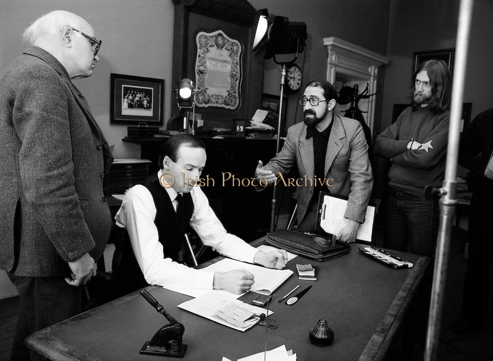 Louis Marcus, (right) directs a documentary film on the 1916 leader, Padraig Pearse - Revival: Pearse's Concept of Ireland, to mark the centenary of Pearse's birth. Centre is actor John Kavanagh, who played the part of Pearse.<br />