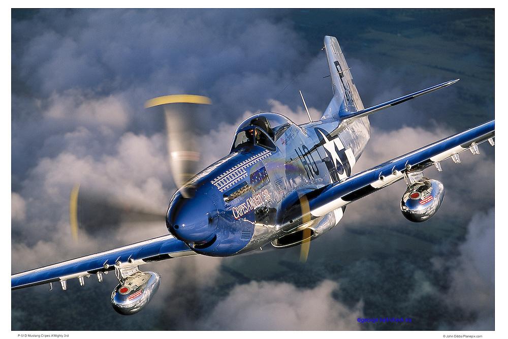 P-51D, aerial close up