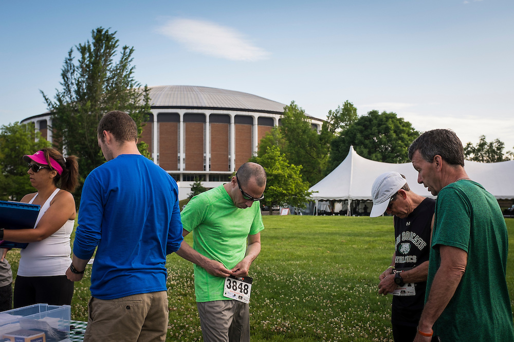 Runners took to the Ohio University Bike Path on Saturday, May 30, 2015 for the Bobcat Dash 5K as a part of the On The Green alumni weekend.  Photo by Ohio University  /  Rob Hardin